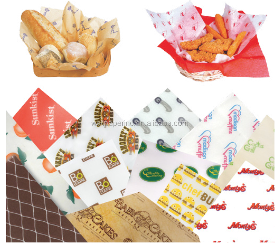 food safe printing paper grease proof Bread Burger Wrapping Paper