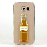 Wine Bottle Phone Case for Samsung Galaxy S6,Mobile Phone Bear TPU Case
