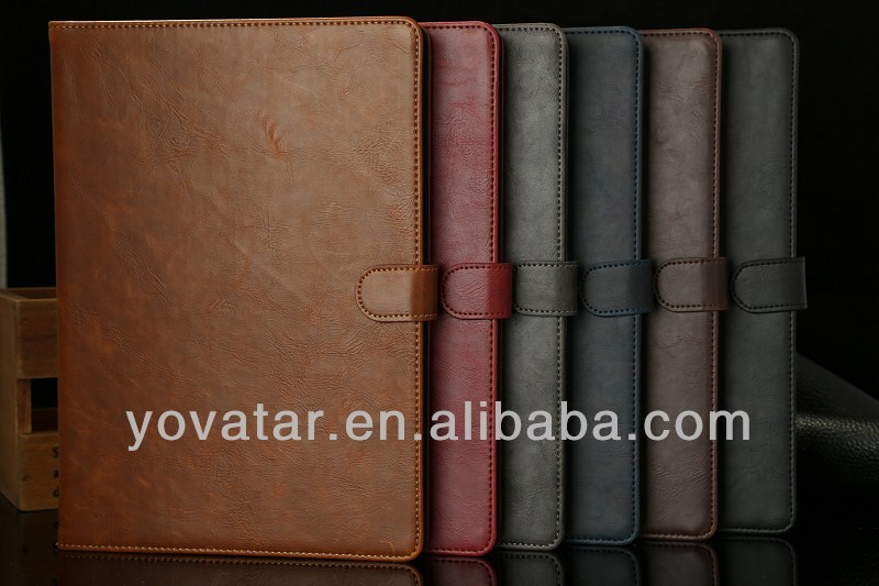 For iPad 5 Case Retro Smooth Flip Stand PU Leather With Card Slots Case For ipad air