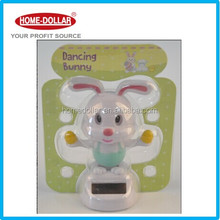 Popular Best Price ABS Bunny Solar Powered Swing Doll