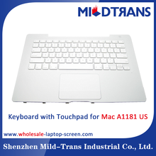 Replacement laptop Internal keyboard with Touchpad for APPLE Mac A1181 US language layout