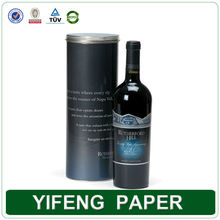 mache leather cardboard cylinder paper round tube wine gift box