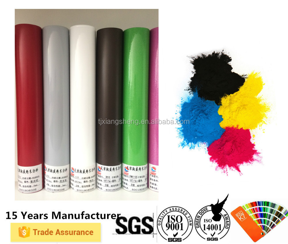 Electrostatic spray thermoset metallic furniture epoxy polyester powder coating