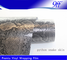 Self adhensive vinyl Silver Snake skin car wrap for car decoration wrapping