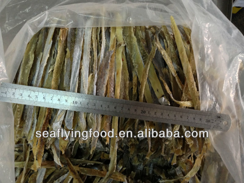 dried amber fish sliced seafood snacks with skin