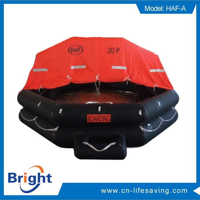 Brand new inflatable life raft with 20 persons with high quality