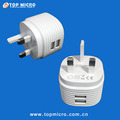 Mini Instant UK Plug Rechargeable Adapter Mobile Phone USB Wall Charger