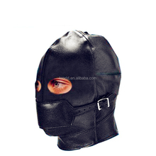 Hot adult sex mask with top level leather material sex toy