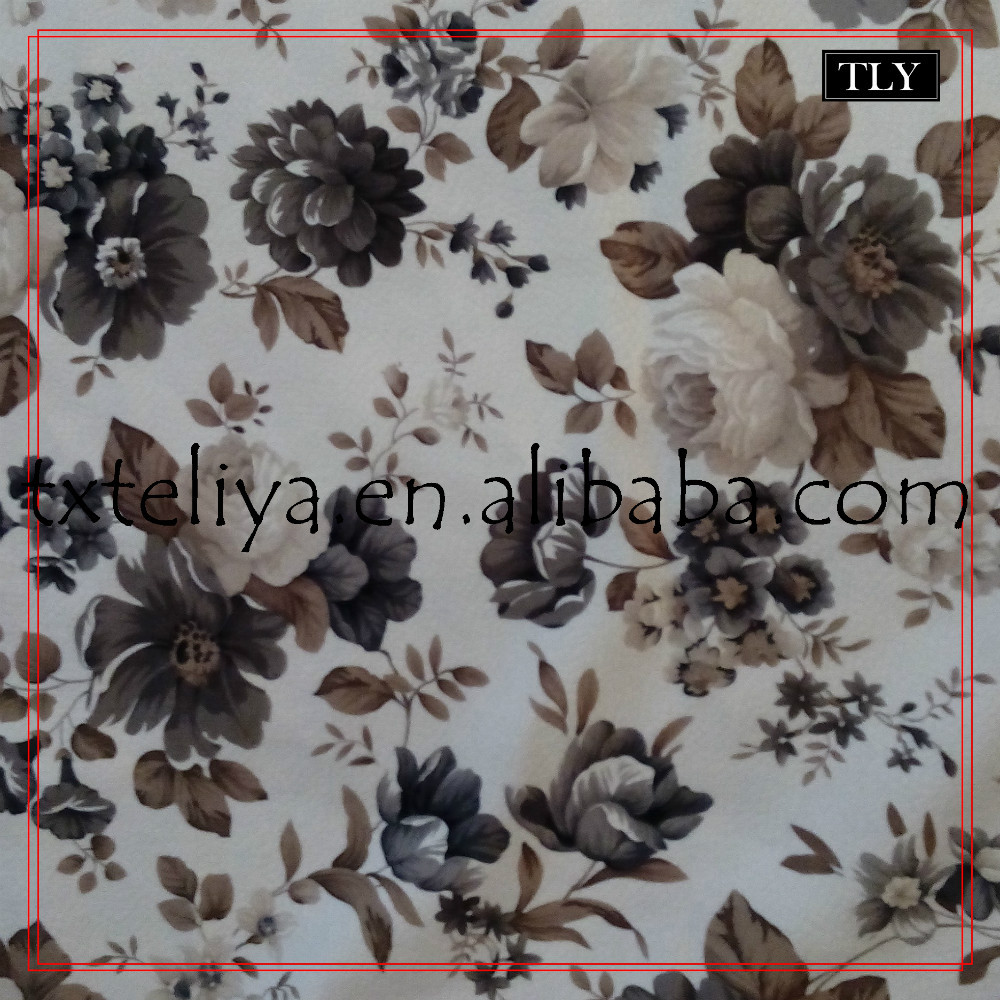 Small Flower printed embossed burnout furniture fabric