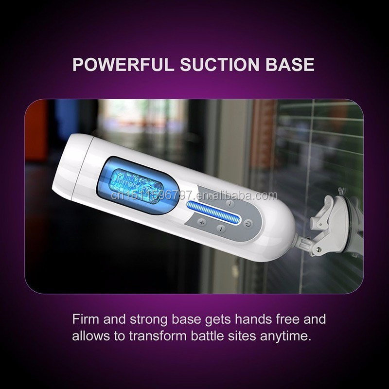 USB Charged Retractable Adult Sex Machine Fully Male Electric Hands Free Automatic Male Masturbator