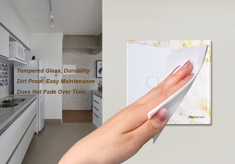Лучшее качество Стандартный сенсорный экран 220 В телефон WiFi Smart home выключатель света 2 банды 1 способ