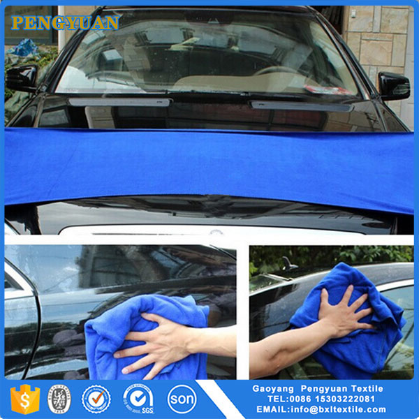 Custom size quick drying car cleaning cloth microfibre wash towel