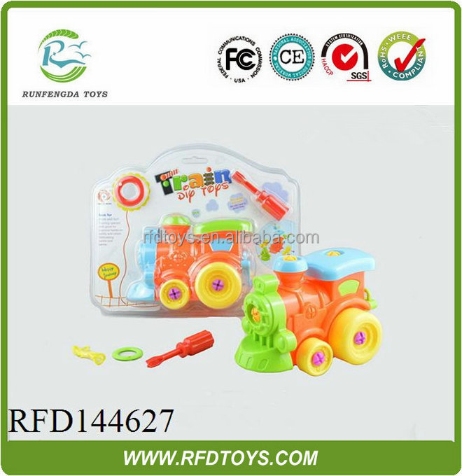 Colorful diy toy educational toys trail train toy car assembly