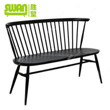 2114 solid wood long dining chair