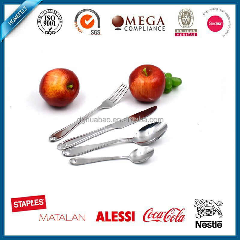 Special design stainless steel high quality tableware 4pcs cutlery set - soda spoon, spoon, fork and knife