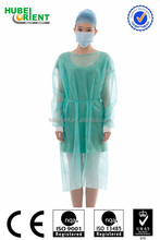 PP/SMS disposable yellow isolation gown
