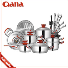 Hot sell pot set high quality/Promotion 16pcs stainless steel cookware/Cooking Pot