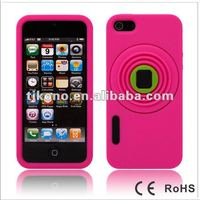 Colorful and cute silicon case for iphone5 like camera