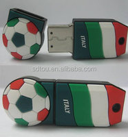 2014 world cup popular football usb stick pendrive with your color of national flag promotional gift