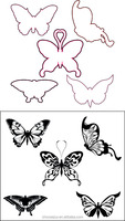 Transparents butterfly clear stamps for craft scrapbook