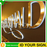 Most Attractive Stainless Steel Backlit Acrylic Signage for Advertising