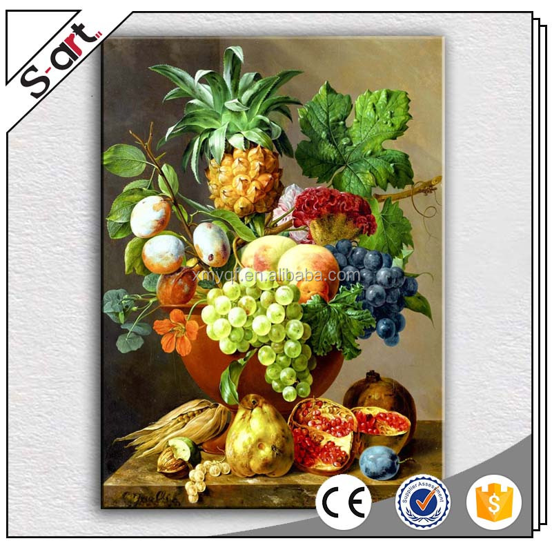 Handpainted famous oil still life paintings fruit designs