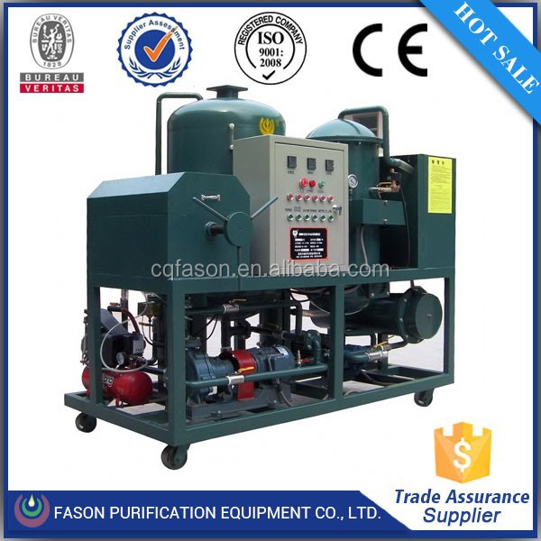 Decolorization technology CE certified centrifugal oil cleaner /recycling oil purifier