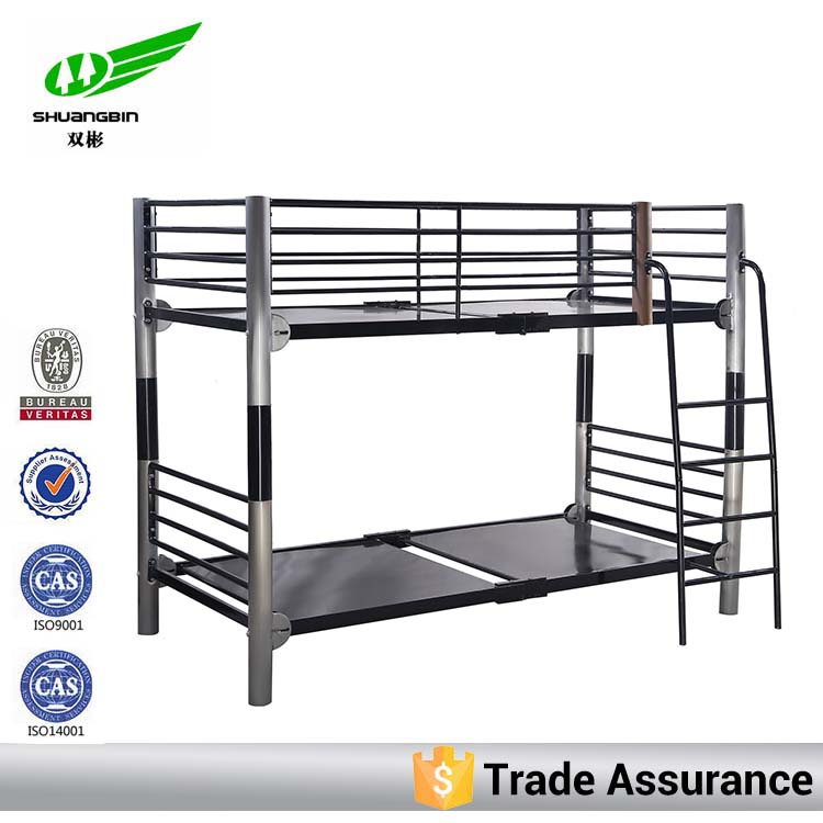 Modern design double metal folding bed