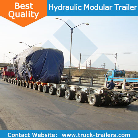 Oversize transport hydraulic low bed trailer module trailer