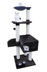 New 2016 online shopping dog cat pet China supplier cat tower cat climber with ball toy and cat house