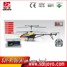 SJY-R106 Aluminum box packed 3.5 channel wireless metal rc helicopter with gyro