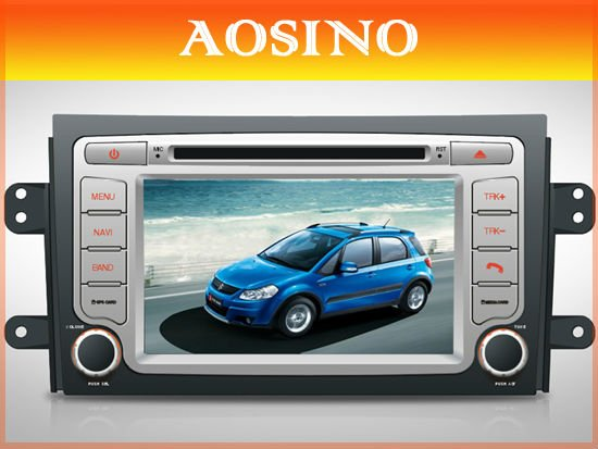 Double din special car dvd gps / car radio / car audio for SUZUKI SX4 with GPS navigation map