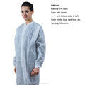 Multifunctional non woven surgical isolation gown plastic pe lab coat