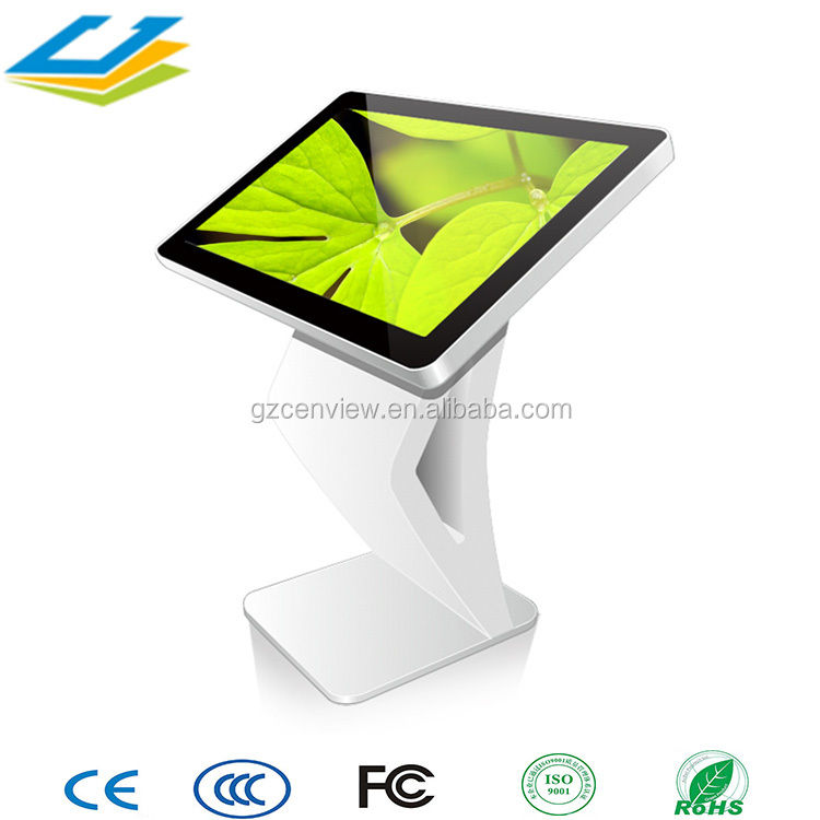 32 inch touch screen free standing lcd led video tv indoor kiosk with high quality