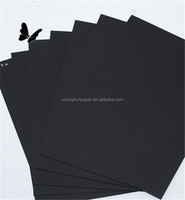 300 / 350gsm box packing paper thin black cardboard
