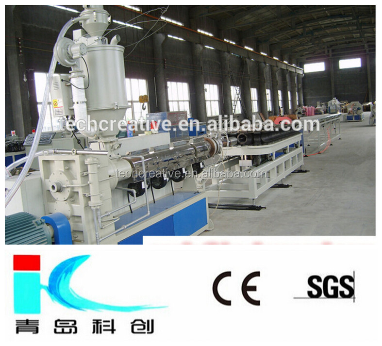 PE/PP/PVC Electrical Cable Passing the Hose Production Line / Corrugated Pipe Making Machine