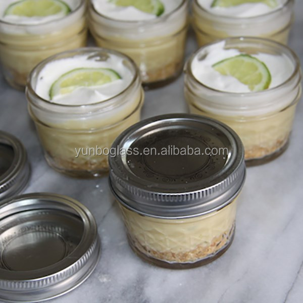 Individual Key Lime Pie in Canning Jars, 4 Ounce Mason Jars