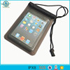 Pvc clear material zippers waterproof pouch bag with lanyard for ipad mini 3