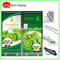 Economical Aluminum Materal Body 80*200CM Size Sliver Advertising Roll Up M,odel 2 for Promotion Indoor Display
