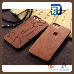 Real Natural Walnut Wood Case Wooden Cover Protective Skin Hard Phone Back Shell Case for iPhone 6S 4.7 Inch