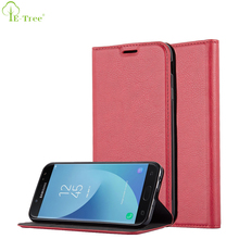 Magnet Card Slot Pu Leather Flip Cover Case For Samsung Galaxy J7 2017 EU Version
