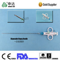 semi-automatic soft tissue biopsy gun/medical needle disposable biopsy gun