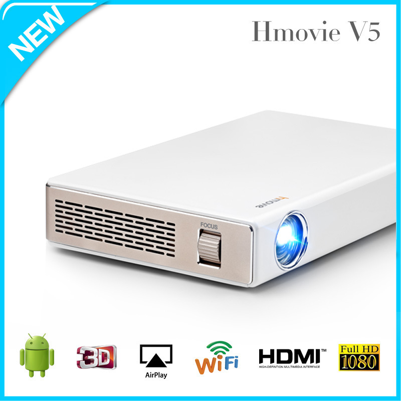 Sansui Short Throw Portable Mini DLP Projector Data Show Multimedia Android IOS projector 720P