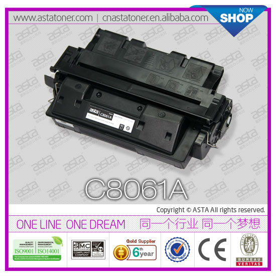 Laser comsumable toner C8061A for hp laserjet printer