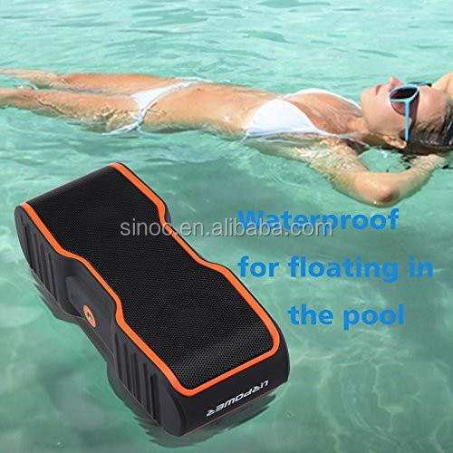 Super bass ipx7 waterproof wireless portable bluetooth speaker with micro for swimming pool or for Waterproof speakers for swimming pools