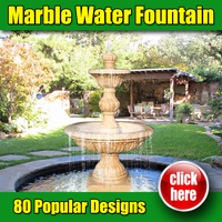 New style interior design marble cheap water features
