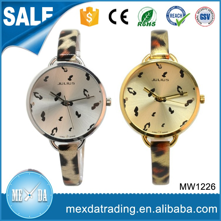 2016 New design quartz movt dial printing vogue style fashion lady watch