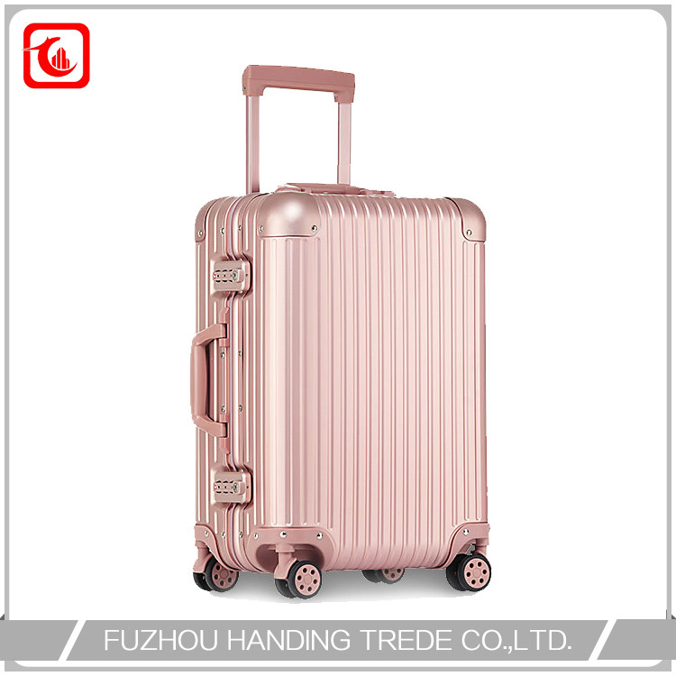 Aluminum Cabin Luggage Carrier , Airport Trolley Travel Luggage
