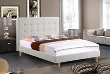 new arrival royal latest double bed designs queen size linen bed