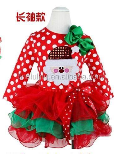 New 2015 christmas dress fashion baby girl dress girls santa claus
